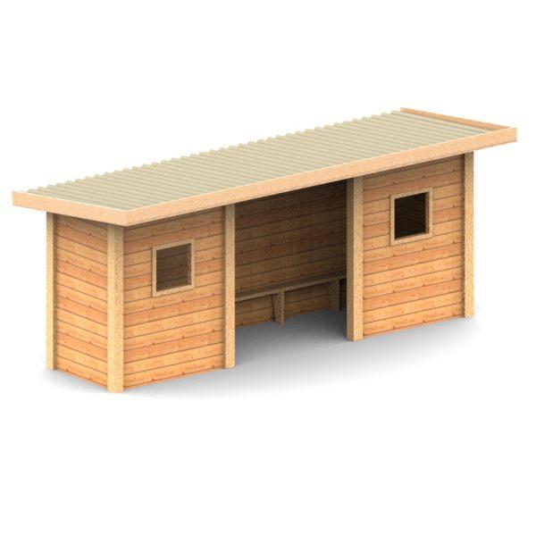 ריהוט רחוב, תחנת המתנה מעץ מבית פיברן המומחים בייצור והתקנת ריהוט רחוב
