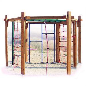 מתקני כושר מעץ לפארקים ,פיברן מומחים בפיתוח מתקני כושר וספורט