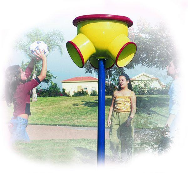 מתקן כושר ומשחק לפארקים משפך סל,פיברן מומחים בפיתוח מתקני כושר