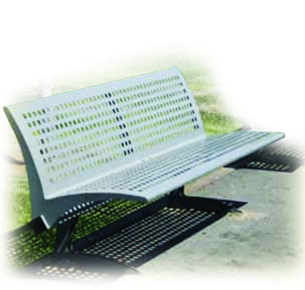 ספסל רחוב ממתכת דגם טל מבית פיברן המומחים בייצור והתקנה של ריהוט רחוב