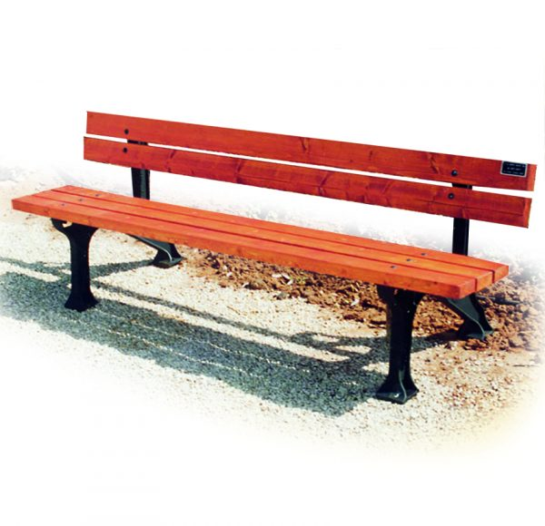 ספסל רחוב מעץ דגם שירית מבית פיברן המומחים בייצור והתקנה של ריהוט רחוב