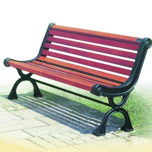 ספסל רחוב מעץ דגם סמדר מבית פיברן המומחים בייצור והתקנה של ריהוט רחוב