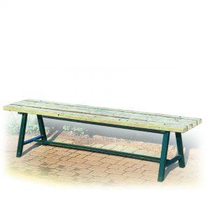 ספסל רחוב מעץ דגם לילך מבית פיברן המומחים בייצור והתקנה של ריהוט רחוב