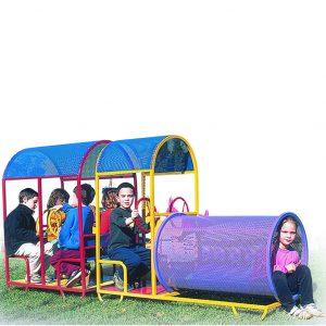 משחק לחצר לגני ילדים קרון+קטר דגם P9652, פיברן מומחים בייצור מתקנים לגן ילדים
