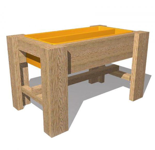 שולחן חול לחצר גן ילדים , פיברן מומחים בפיתוח ויצור של מתקנים לגני שעשועים