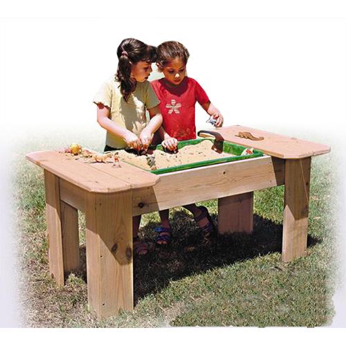 שולחן חול לפעילות בחצר גני ילדים , פיברן מומחים בייצור מתקנים לגני ילדים