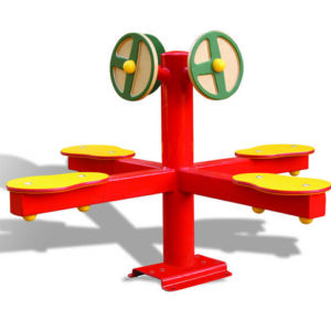 מתקן הגאים צבעוני דגם עלמה P-9871, פיברן מומחים בייצור משחקי חצר לגני ילדים