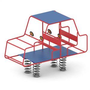 מתקן קפיץ דגם ג'יפ - פיברן מומחים בפיתוח ויצור מתקנים לגני שעשועים
