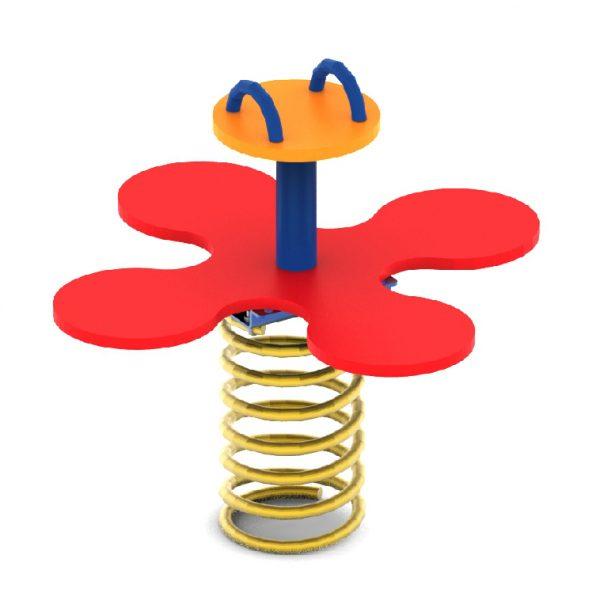מתקן קפיץ ל 4 משתתפים דגם פרח מפלסטיק