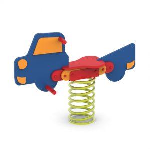 מתקן קפיץ ליחיד דגם מכונית - פיברן מומחים בפיתוח ויצור מתקנים לגני שעשועים
