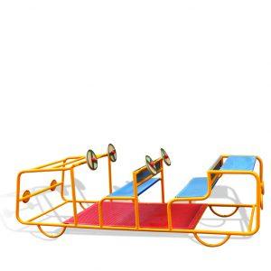 מתקן משחק לגני ילדים ג'יפ מעוצב דגם ספיר, פיברן מומחים בעיצוב מתקנים לגני ילדים