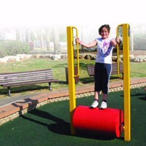 מתקן כושר לפארקים דגם גלגל רץ ,פיברן מומחים בפיתוח מתקני כושר
