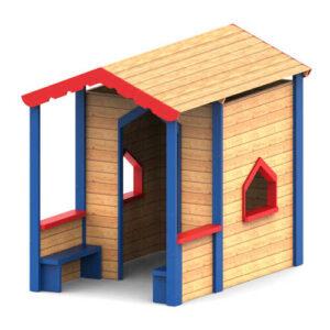 בית עץ עם מרפסת לגני שעשועים, פיברן מומחים בפיתוח מתקני חצר לגני שעשועים