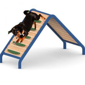 מתקן טיפוס וירידה לכלבים, פיברן מומחים בפיתוח ויצור מתקנים לגינות כלבים