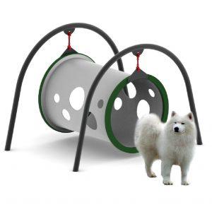 מתקן מנהרת שיווי משקל לכלבים, פיברן מומחים בפיתוח גינות כלבים