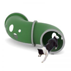 מתקן מנהרה מפותל לכלבים , פיברן מומחים בפיתוח גינות כלבים