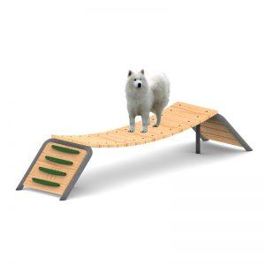 מתקן טרפז לכלבים, פיברן מומחים בפיתוח גינות כלבים ומתקני שעשועים
