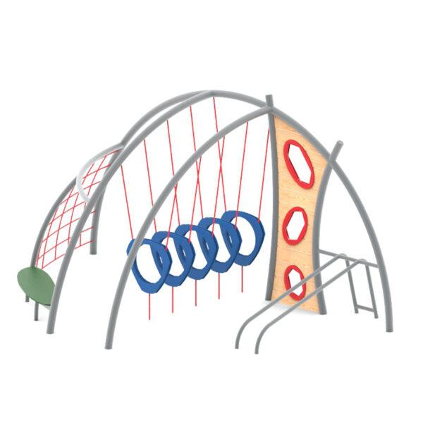 מתקן טיפוס כבלים לגן שעשועים דגם אדר, פיברן מפתחים מתקנים לגן שעשועים