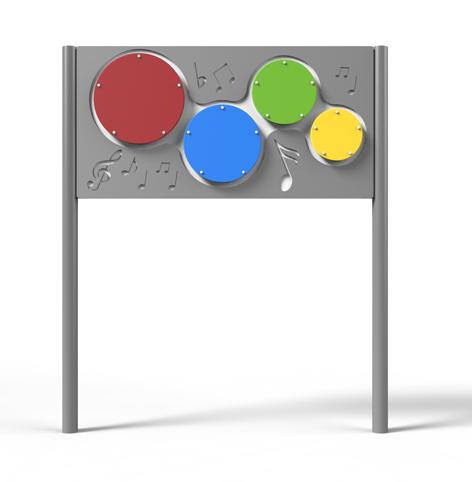 לוח משחק פעיל דגם תופי בונגו P-9758 ,פיברן מומחים בפיתוח מתקנים לגני שעשועים