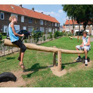 נדנדה מעץ רוביניה דגם RO302'פיברן מומחים למתקני משחק וריהוט רחוב איכותיים