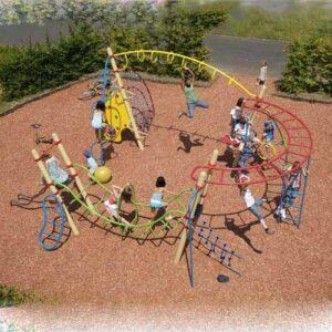 מתקן מיני נינג'ה מאתגר לילדים של פיברן, ייצור מתקני משחק ושעשועים