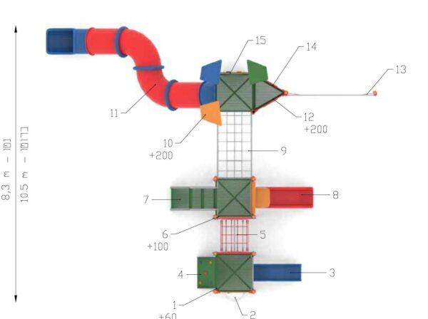 מתקן טפחות KA-8453 פיברן מומחים במתקני שעשועים