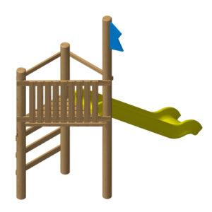 """מתקן משחק מעץ לילדים דגם """"תצפית"""" ,פיברן מומחים ליצור מתקני שעשועים מעץ"""