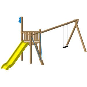 מתקן משחק ופעילות מיוחד מעץ רוביניה לילדים,פיברן מומחים ליצור מתקני שעשועים