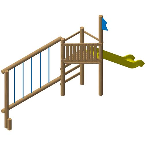 מתקן משחק ופעילות משולב לילדים מעץ רוביניה דגם EKO-2024