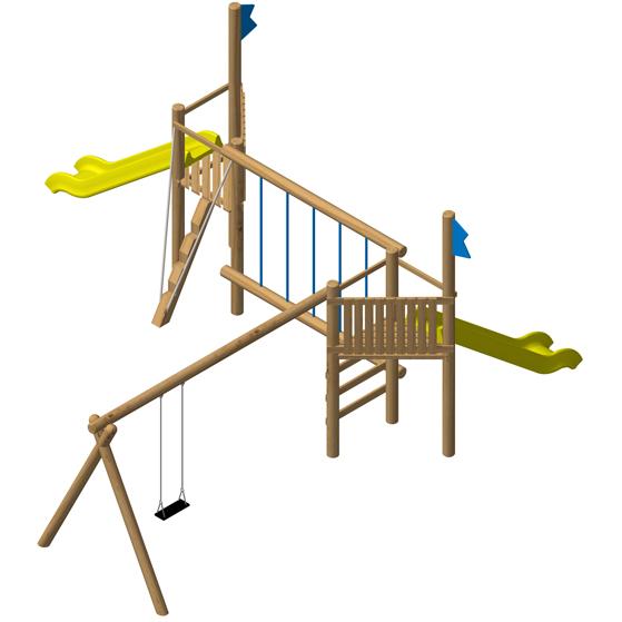 מתקן משחק ופעילות לילדים גדול EKO-2024,פיברן מומחים ליצור מתקני שעשועים