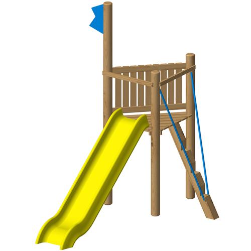"""מתקן משחק מעץ לילדים דגם """"מגדלור"""" ,פיברן מומחים ליצור מתקני שעשועים מעץ"""