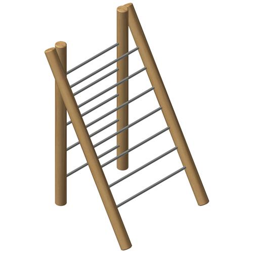 מתקן טיפוס אתגרי דו צדדי מעץ רוביניה, פיברן המומחים לייצור מתקני שעשועים