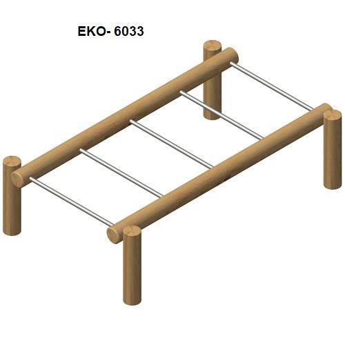 מתקן כושר וספורט מעץ רוביניה 6033, פיברן מומחים למתקני משחק
