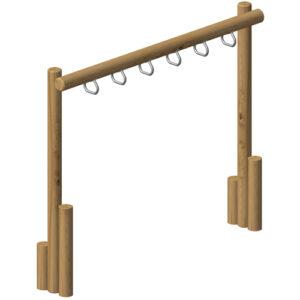 מתקן לטיפוס ופעילות עם טבעות מעץ רוביניה-פיברן מומחים למתקני משחק ופעילות