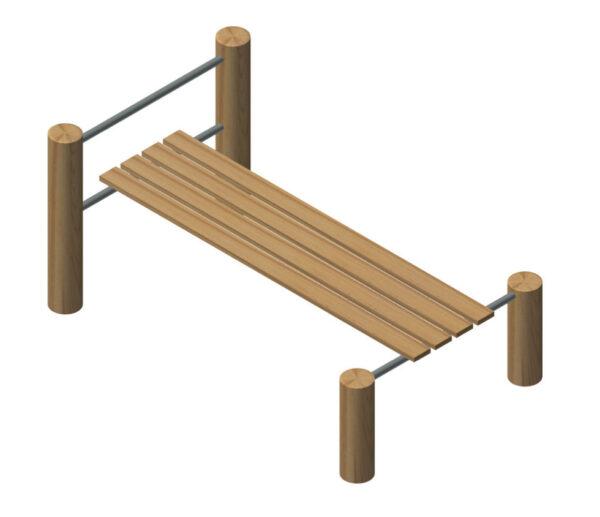 מתקן כושר לכפיפות בטן מעץ רוביניה החזק והעמיד, פיברן מומחים למתקני שעשועים