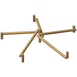 מתקן אתגרי מיוחד- מחומש לשיווי משקל מעץ רוביניה, פיברן מומחים במתקני שעשועים