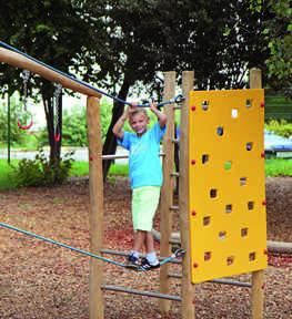 מערכת ספורט ומשחק אתגרית מעץ דגם מבצר | פיברן מתקני משחק וריהוט רחוב
