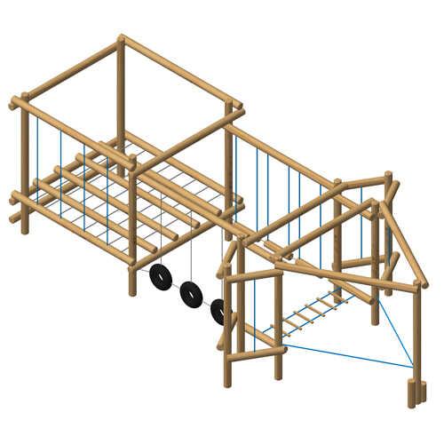 סדרת מתקני שעשועים אתגריים מעץ רוביניה מבית פיברן,מומחים בייצור מתקני משחק.