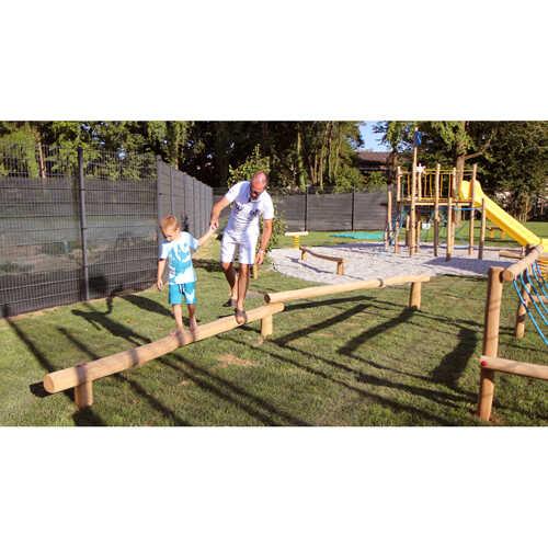 קורה לשיווי משקל זוגי מעץ רוביניה דגם EKO3015 | פיברן מתקני משחק וריהוט רחוב