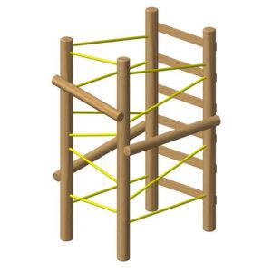 מתקן טיפוס למשחק וספורט מעץ רוביניה , פיברן מומחים בייצור מתקני משחק וספורט