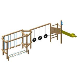 מערכת משחק ופעילות לילדים מעץ דגם מסע, פיברן מומחים לייצור מתקני שעשועים
