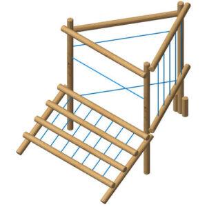 מתקן ספורט וכושר אתגרי לטיפוס מעץ רוביניה, פיברן מומחים לייצור מתקני שעשועים