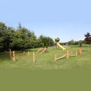 פארק אתגרי לפעוטות מעץ רוביניה |טיפוס,שיווי משקל | פיברן יצור מתקני משחק