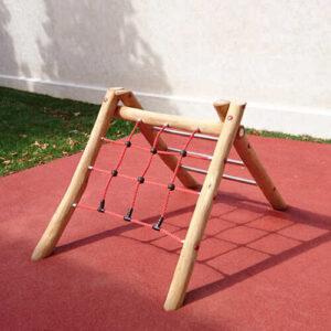 סולם טיפוס דו צדדי לפעוטות לפעילות מעץ רוביניה | פיברן מתקני משחק וריהוט רחוב