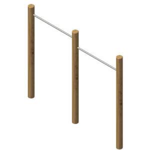 מתקן כושר מתח מדורג כפול מעץ רוביניה,פיברן המומחים לייצור מתקני שעשועים וכושר