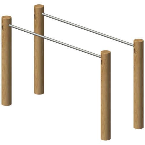 מתקן כושר וספורט מקבילית מעץ רוביניה, פיברן המומחים לייצור מתקני שעשועים