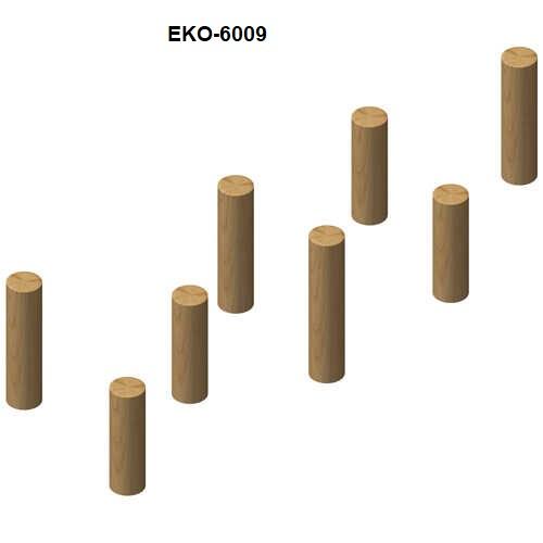 עמודי דריכה ושיווי משקל מעץ רוביניה, פיברן מומחים למתקני משחק