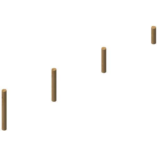 עמודי דריכה לשיווי משקל ולטיפוס מעץ רוביניה,פיברן המומחים לייצור מתקני שעשועים