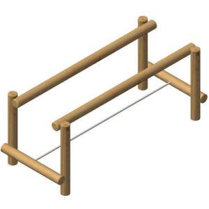 מתקן ספורט לשווי משקל על חבל מעץ רוביניה,פיברן המומחים לייצור מתקני שעשועים